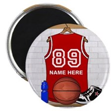 "Personalized Basketball Jerse 2.25"" Magnet (100 pa"