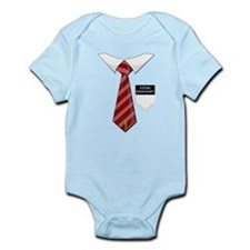 Future Missionary Tag Red Tie Infant Bodysuit