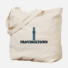 Provincetown MA - Lighthouse Design. Tote Bag