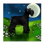 SCHNAUZER DOG FULL MOON Tile Coaster