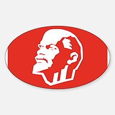 Leninist Flag Sticker (Oval)