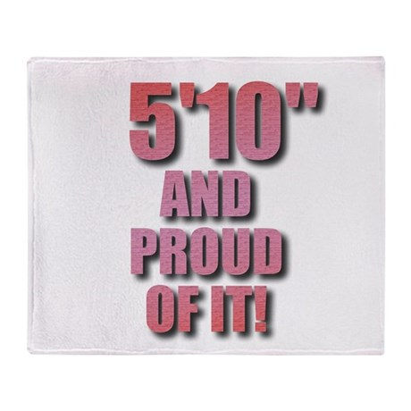 5 foot 10 Throw Blanket