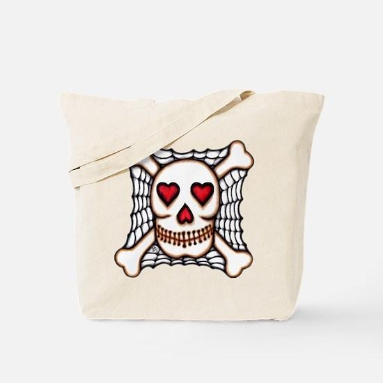 Hearts & Crossbones & Spider Tote Bag