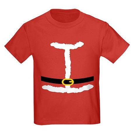 Santa Suit Costume Kids Dark T-Shirt