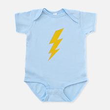 Yellow Thunderbolt Infant Bodysuit