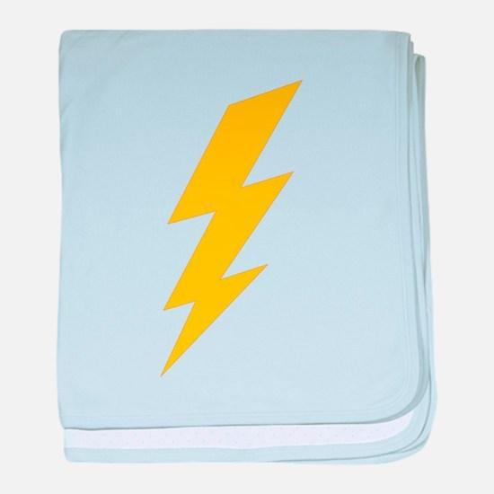Yellow Thunderbolt baby blanket