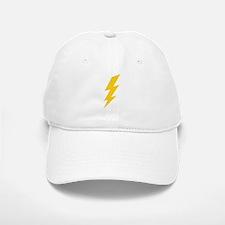 Yellow Thunderbolt Baseball Baseball Cap