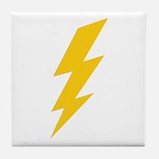 Yellow Thunderbolt Tile Coaster