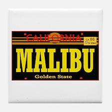 Malibu -- T-Shirt Tile Coaster