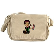 Cool Pink and green Messenger Bag