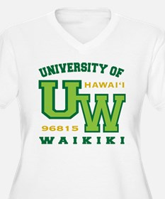 University of Waikiki-Women Plus Size V-Neck Shirt