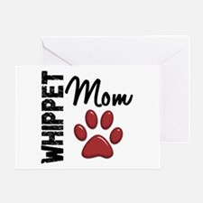 Whippet Mom 2 Greeting Card