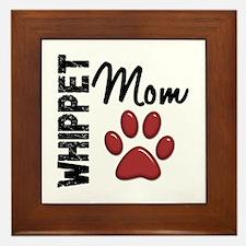 Whippet Mom 2 Framed Tile