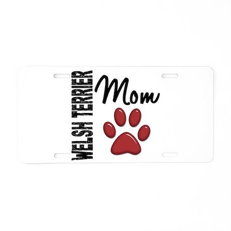 Welsh Terrier Mom 2 Aluminum License Plate