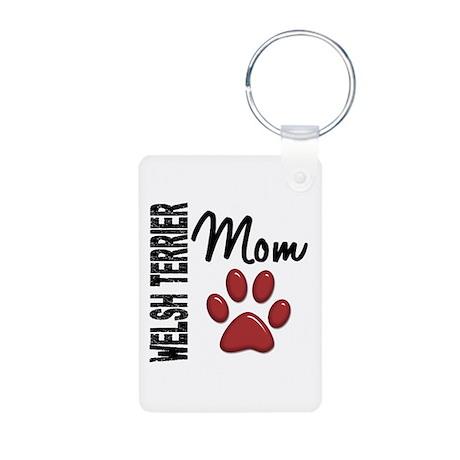 Welsh Terrier Mom 2 Aluminum Photo Keychain