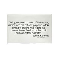 Kennedy: Nation of Minutemen Rectangle Magnet