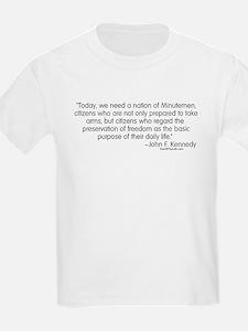Kennedy: Nation of Minutemen Kids T-Shirt
