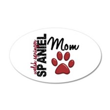 Welsh Springer Spaniel Mom 2 22x14 Oval Wall Peel
