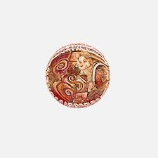 red ganesh Mini Button