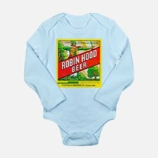 Nebraska Beer Label 5 Long Sleeve Infant Bodysuit