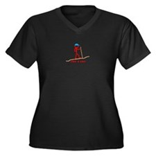 Cute Spelunking Women's Plus Size V-Neck Dark T-Shirt
