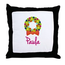Christmas Wreath Paula Throw Pillow
