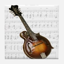 Mandolin and Sweet Music Tile Coaster