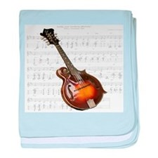 Mandolin and Sweet Music baby blanket