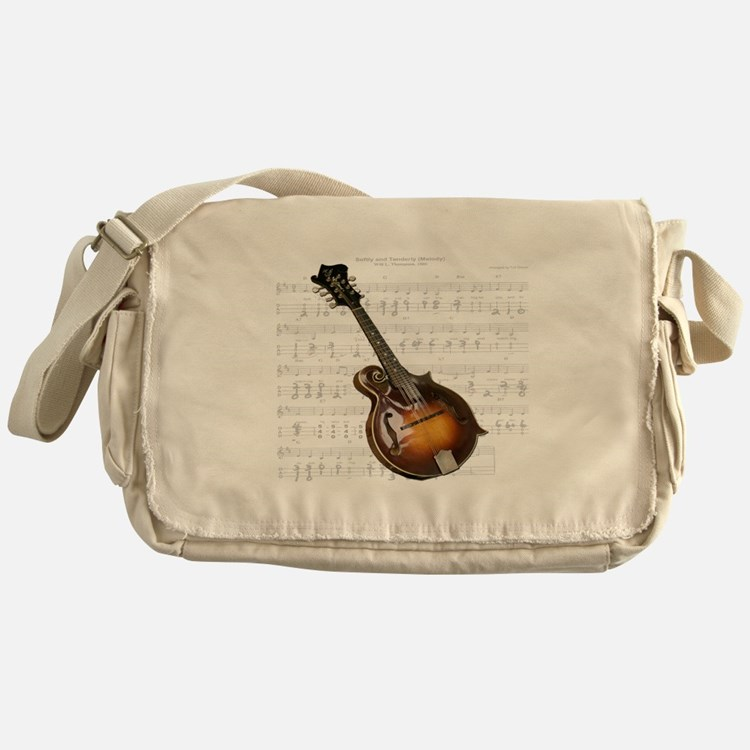 Mandolin and Sweet Music Messenger Bag