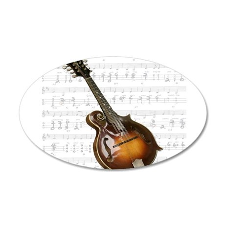 Mandolin and Sweet Music 22x14 Oval Wall Peel
