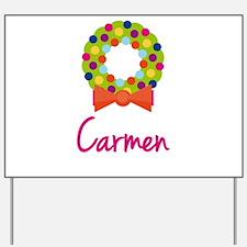 Christmas Wreath Carmen Yard Sign