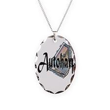 Autoharp Necklace Oval Charm