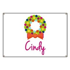 Christmas Wreath Cindy Banner