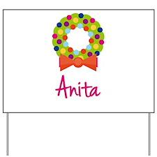 Christmas Wreath Anita Yard Sign