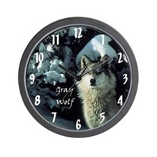 Gray Wolf :: Wall Clock