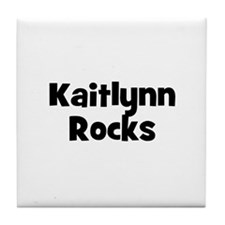 Kaitlynn Rocks Tile Coaster