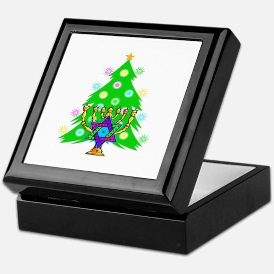 Hanukkah and Christmas Families Keepsake Box
