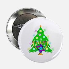 "Hanukkah and Christmas Families 2.25"" Button (10 p"