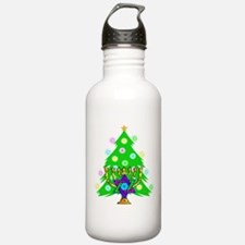 Hanukkah and Christmas Families Water Bottle