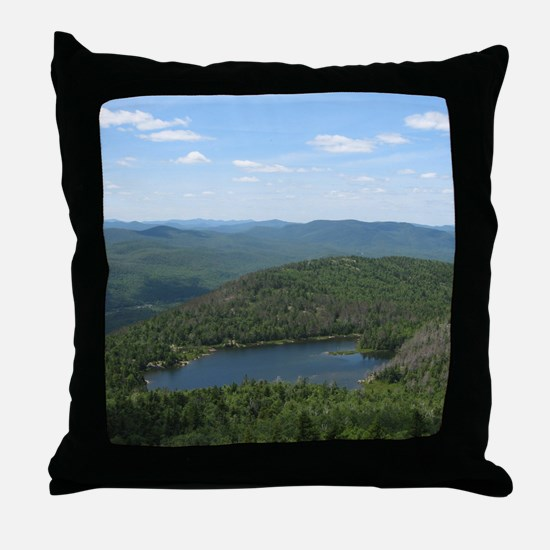 Crane Mtn Pond (from summit) Throw Pillow