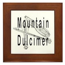 Mountain dulcimer Framed Tile