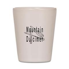 Mountain dulcimer Shot Glass