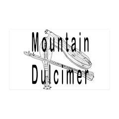 Mountain dulcimer 38.5 x 24.5 Wall Peel