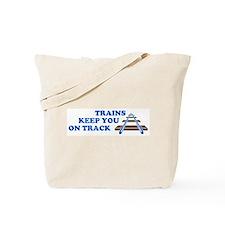 Trains On Track Tote Bag