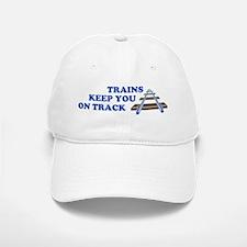 Trains On Track Baseball Baseball Cap