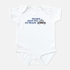 Trains On Track Infant Creeper