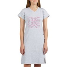Pink Ribbon Breast Cancer Women's Nightshirt