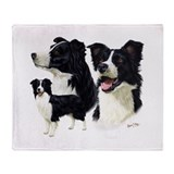 Border collie blanket Fleece Blankets