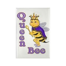 Queen Bee Humor Rectangle Magnet
