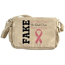 Yeah Fake Breast Cancer Messenger Bag